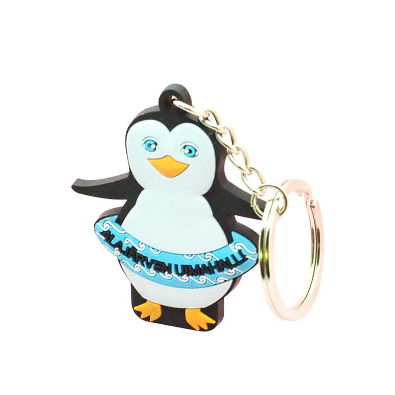 Artigifts Cheap Custom Bulk Soft Pvc Penguin Keychain Wholesale