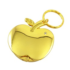 Artigifts Custom Cheap Gold Apple Purse Hook Holder Hanger Keychain