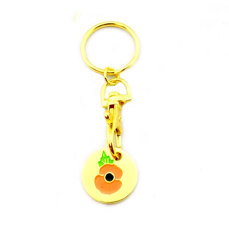 Artigifts Keyring Maker Custom Gold Shopping Cart Coin Keychain