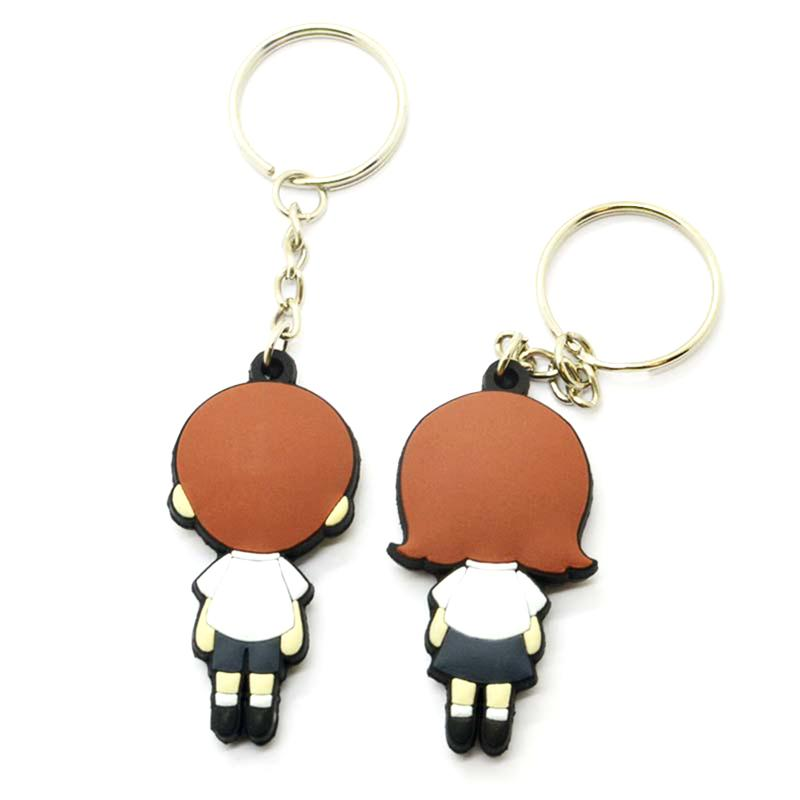 Customized Design Your Own Soft Pvc Couple Llaveros Lover Keychain