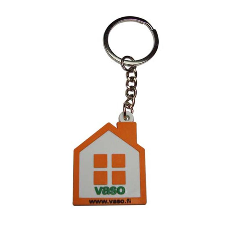 No Minimum Wholesale Keychains Custom Soft Pvc House Key Chain