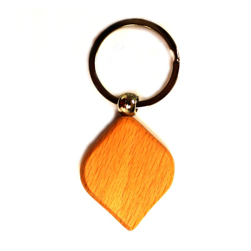 Customized Design Your Own Engraved Blank Wooden Key Rings