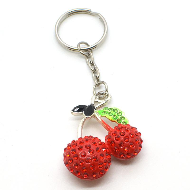 Keyring Maker Supplier Custom Jewelry Cherry Girls Keychain