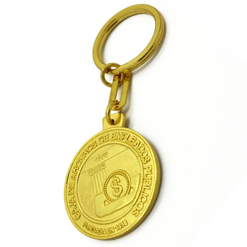Artigifts Keyring Maker Double Side Metal Keychain Gold Plated