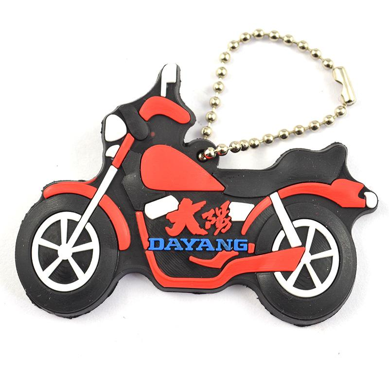 Wholesale Keychains Factory Custom Soft Pvc Motorcycle Keyring