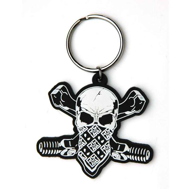 Wholesale Keychain Maker Supplier Skull Shape Pvc Keyholder