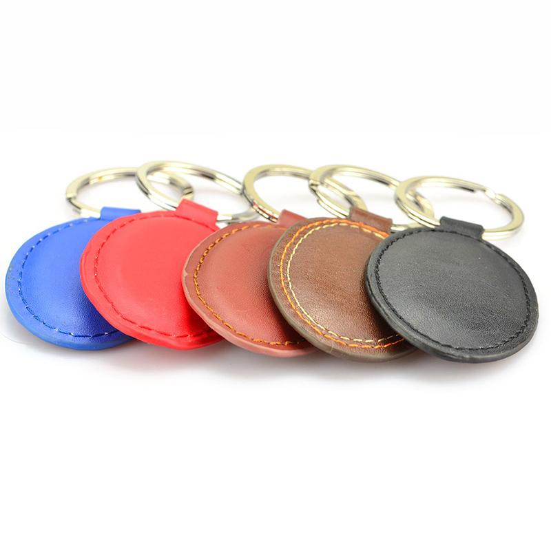 Artigifts Custom Logo Keychain Blank Pu Leather Car Keyholder