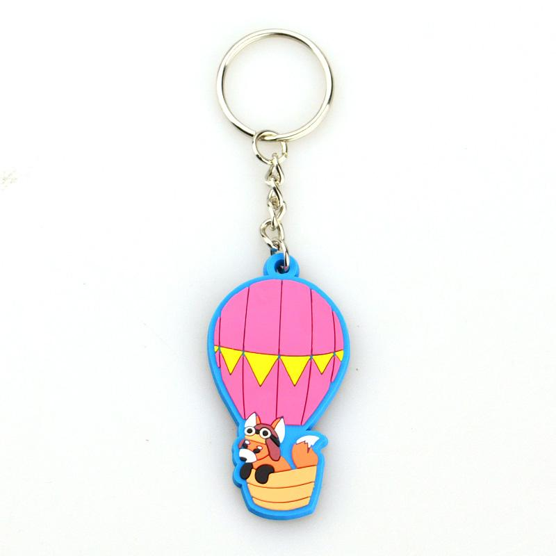 China Factory Custom Bulk 3D Soft Rubber Oval Keychain