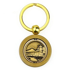 Free Sample Double Side Custom Logo Metal Brass Key Ring