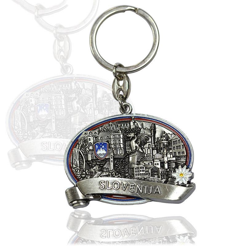 Odm Factory Promotional Metal Keychain Customised Key Ring