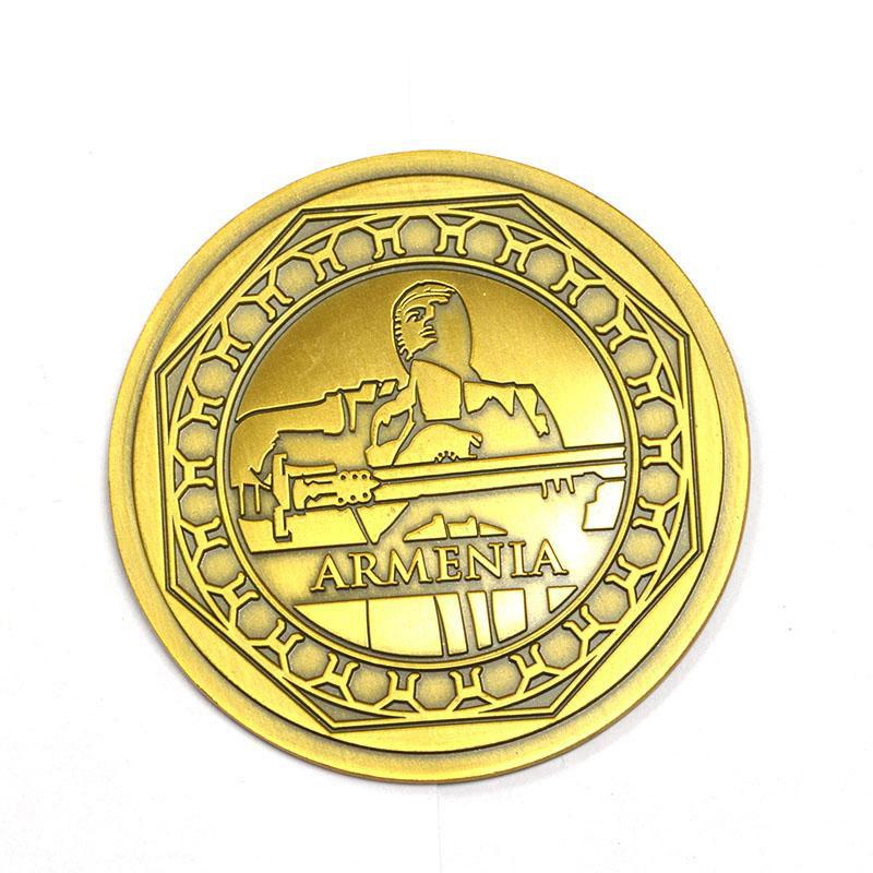 Oem Coin Maker Wholesale Metal Plated Gold Custom Russia Coin