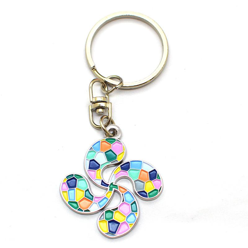 Wholesale Custom Metal Key Chain Bling Jewelry Letter E Keychain