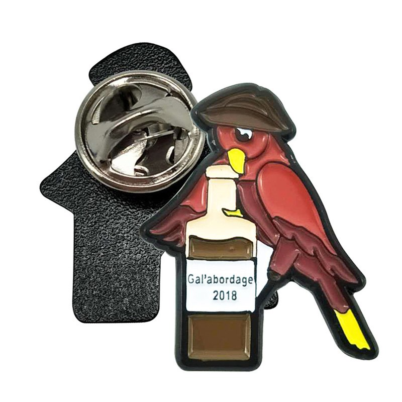 No Minimum Oem Custom Bird Logo Metal Enamel Pin Custom