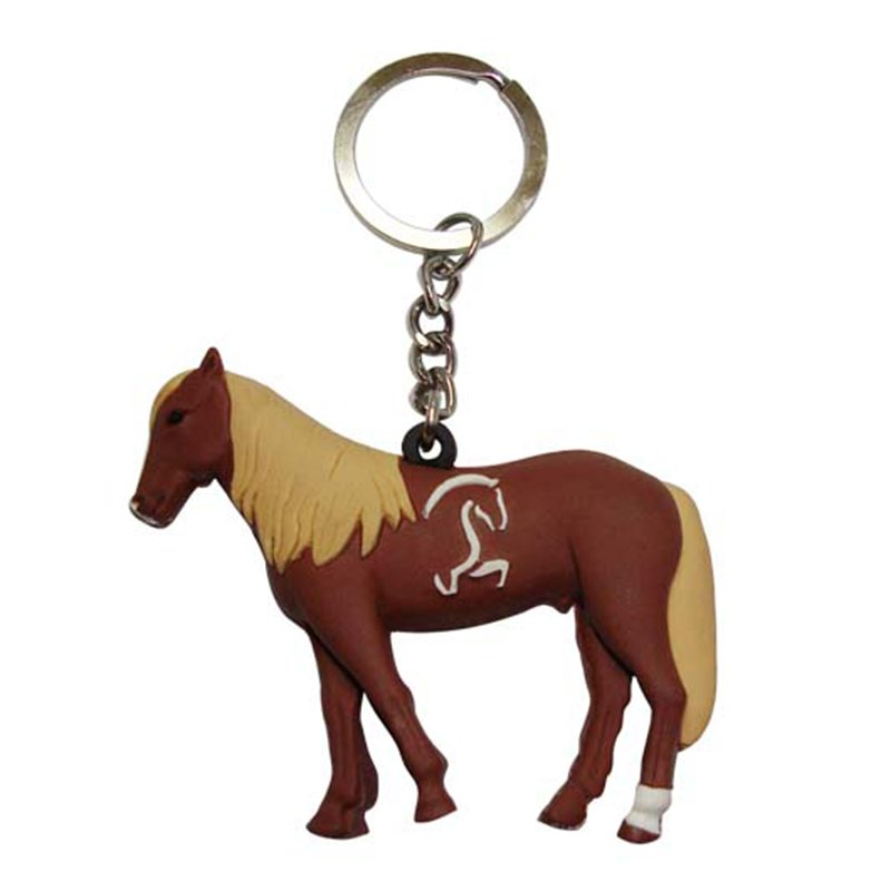 Key Ring Maker Custom Rubber Keychain Soft Pvc Horse Key Chain