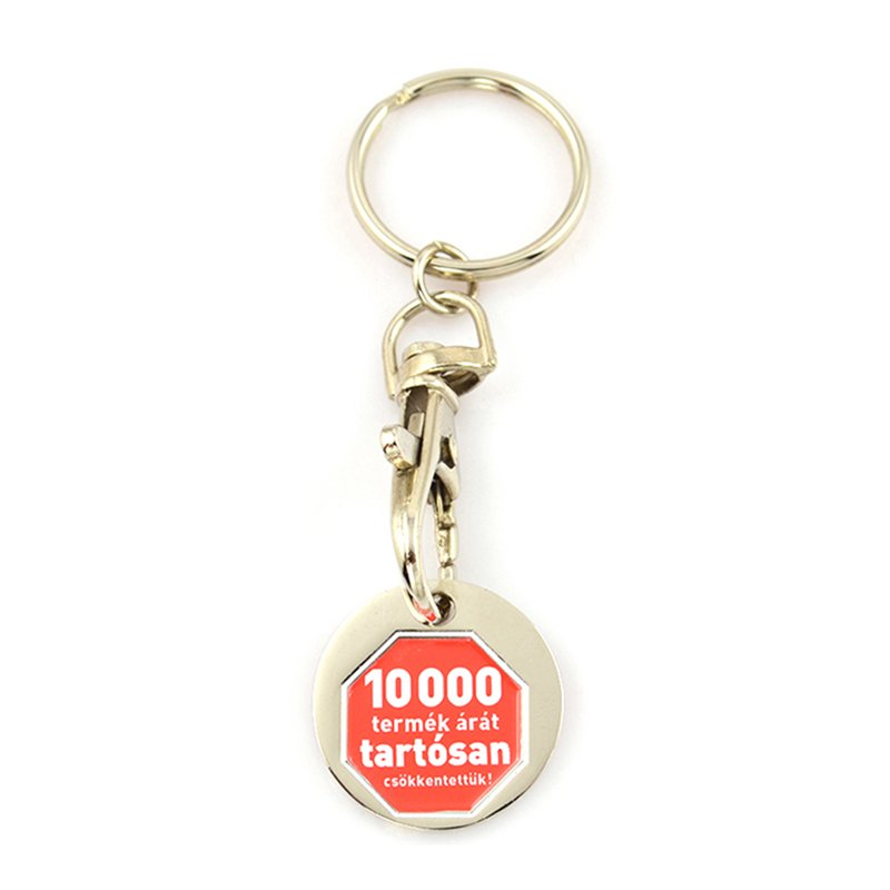 Key Chain Maker Custom Trolley Coin Keychain Metal With Coin