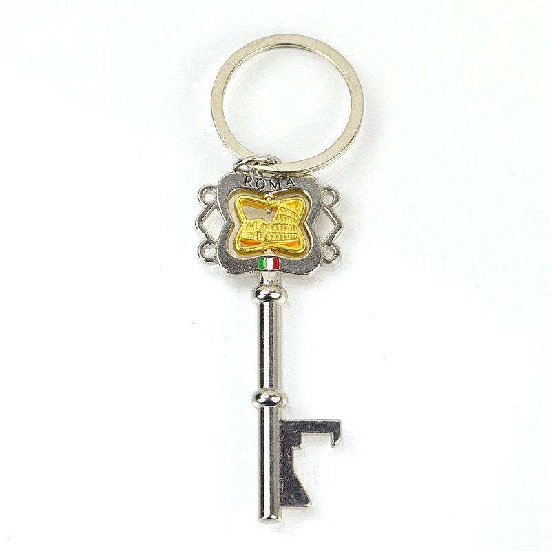 Metal Key Shaped Keyring Custom Key Chain Tritium Keychain