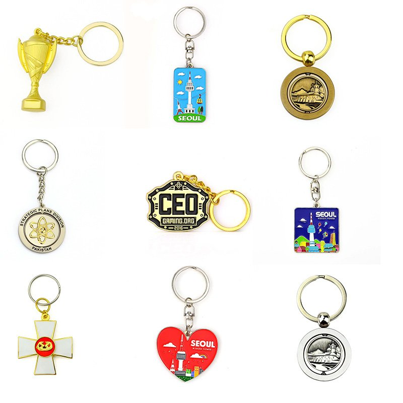 Metal Keychain Sublimation Promotional Bulk Cheap Key Chain
