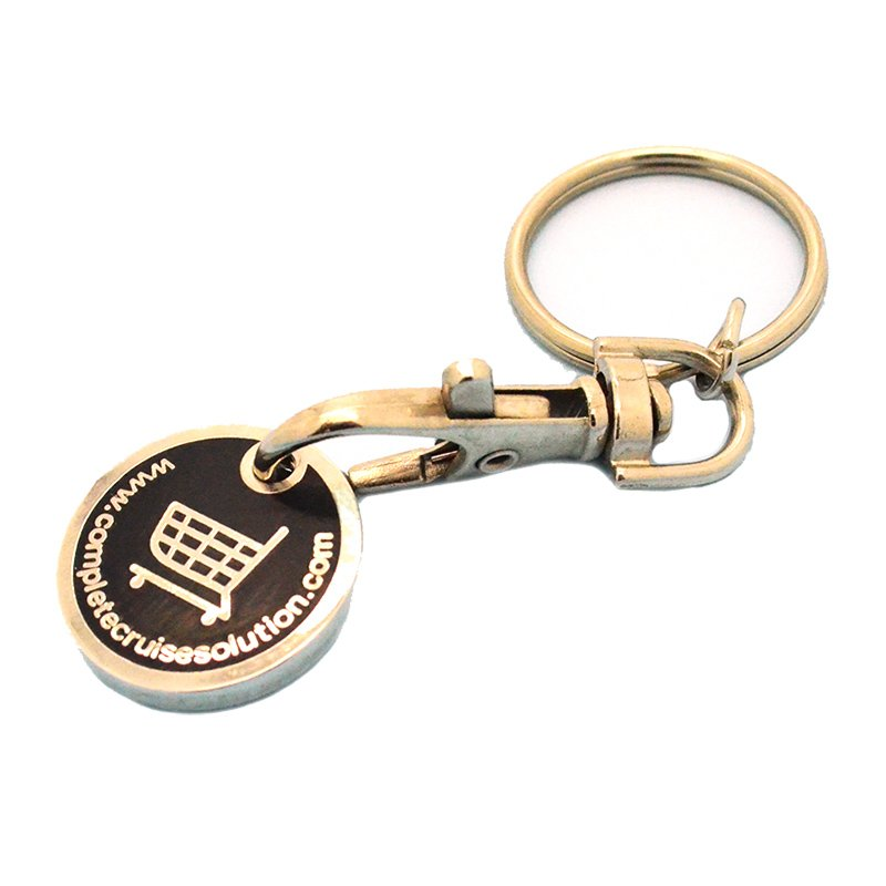 Metal Keychain Car Logos Custom Coin Holder Key Chain Factory