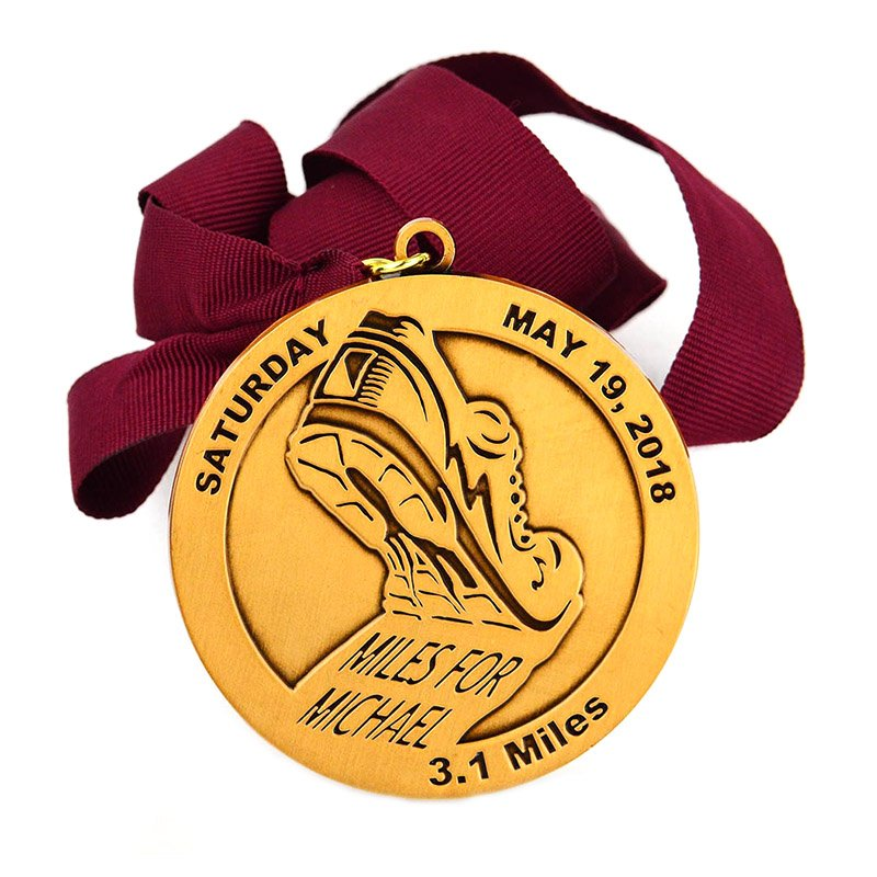 Sport Medal Custom Award Metal Copper Medal With Lanyard