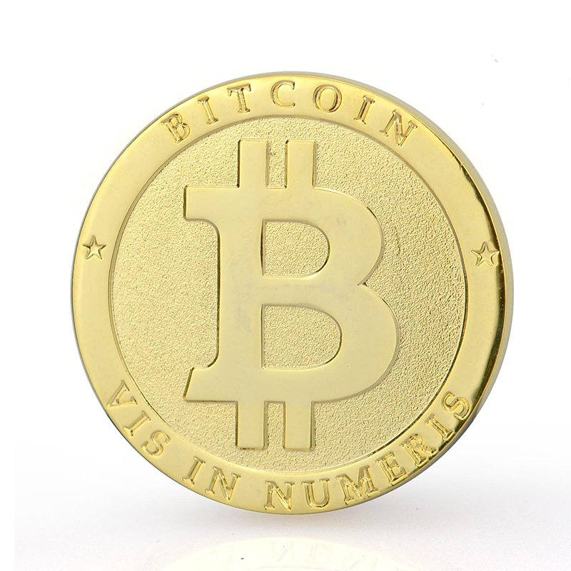 Metal Plated Gold Bit Coin Custom Bulk Cheap Bitcoin Coin