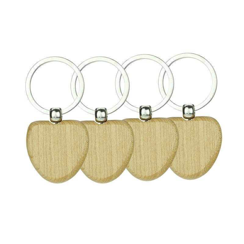 Engraved Wooden Keyrings Custom Blank Wood Keychains