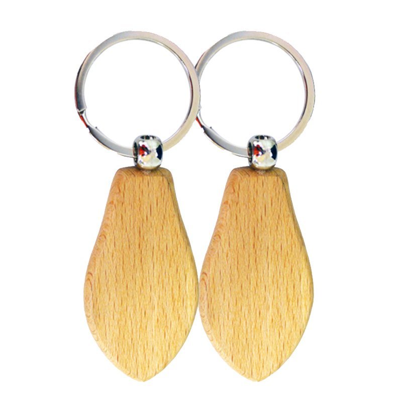 Wholesale Blank Wooden Keychains Custom Wood Key Chain Ring