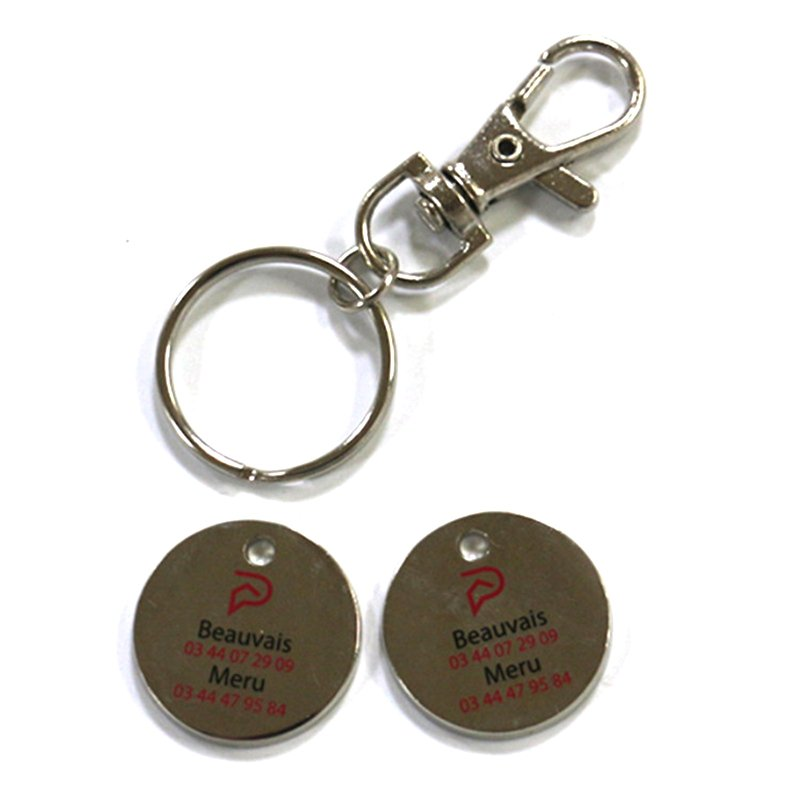 Custom Key Holder Parts Metal Coin Keychain Key Chain