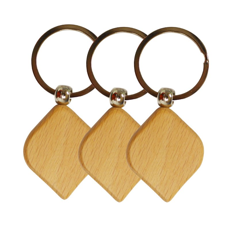 Wholesale Key Holder Wood Keychain Custom Wooden Key Chains