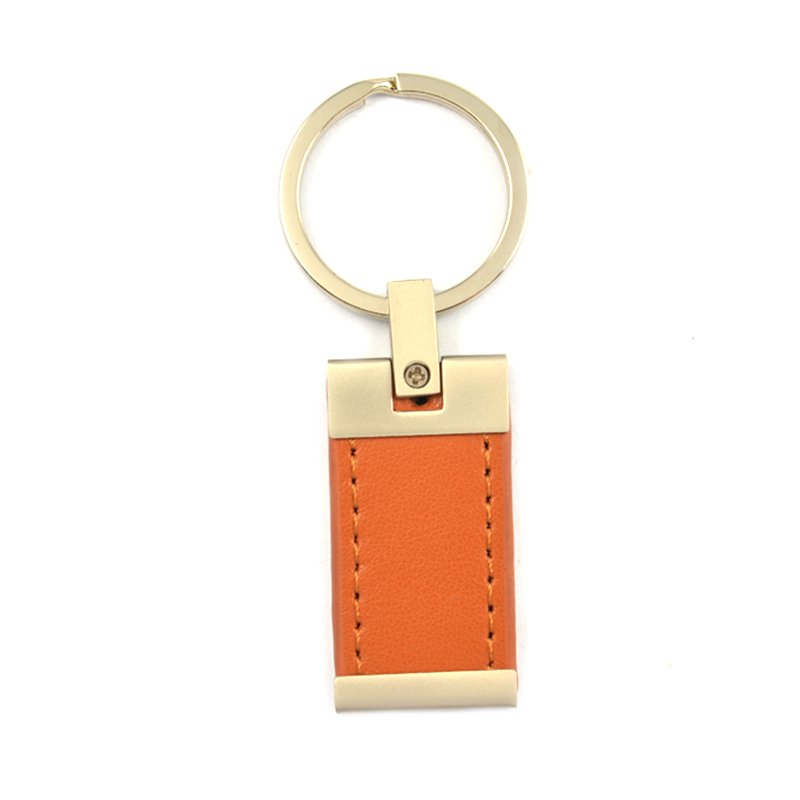 Genuine Leather Key Holder Custom Metal And Leather Key Ring