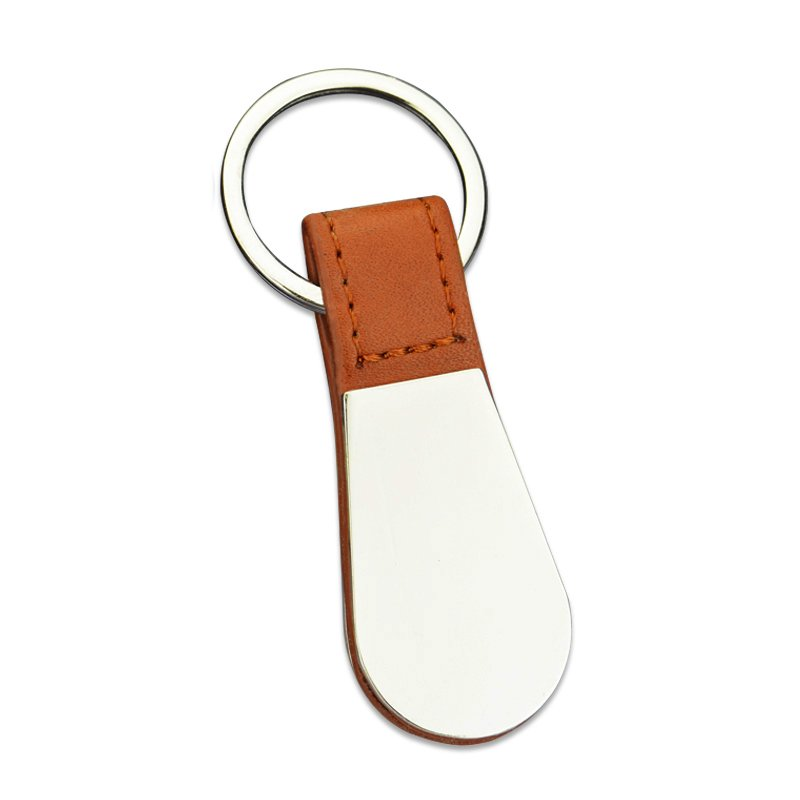 Bulk Pu Key Holder Custom Metal And Leather Keychain