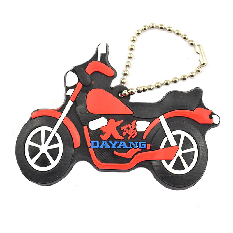 Soft Pvc Keychain Motorcycle Custom Bulk Rubber Key Chains