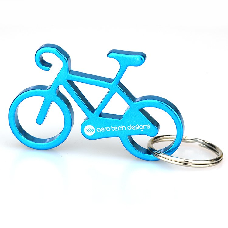 Customized Bike Keychain Aluminum Bottle Opener Key Chain