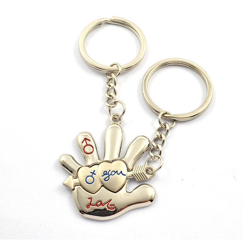 Wholesale Friends Keychain Custom Metal Couple Key Chains