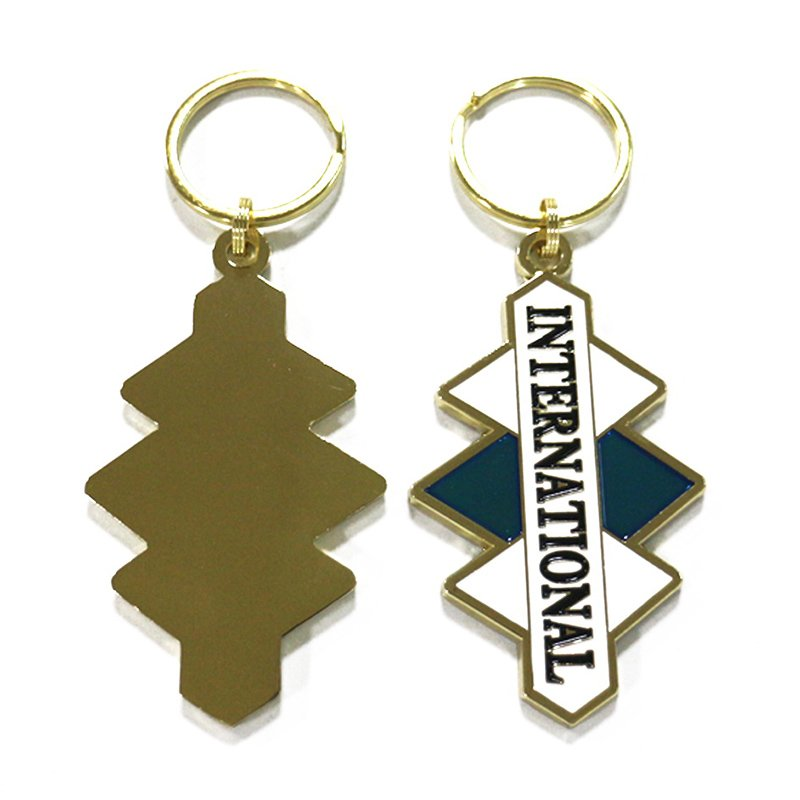 Metal Tourist Souvenir Keychain Promotional Gifts Key Rings