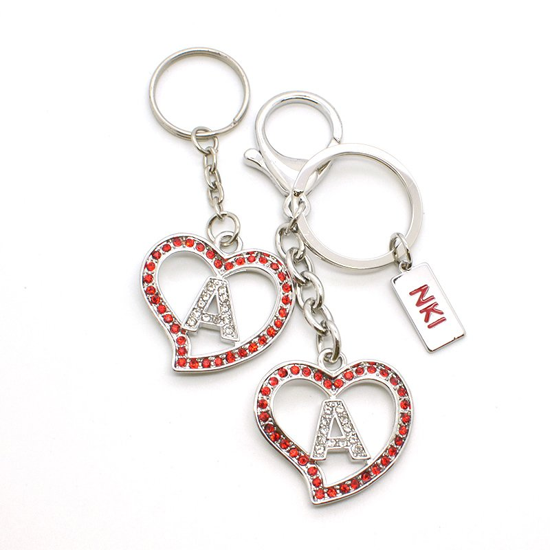 Oem Odm Korean Keychain Custom Metal Jewelry Key Chain Rings