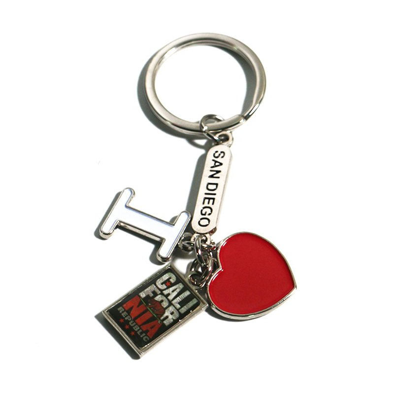 Souvenir Dangling Keychain Custom Logo Metal Diy Key Chains