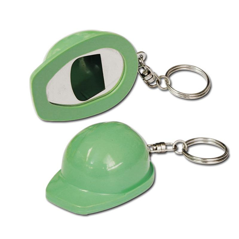 Baseball Cap Keychain Opener Custom Plastic Key Chain Ring