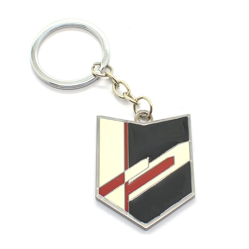 Military Keychain Custom Logo Metal Enamel Key Chain Ring