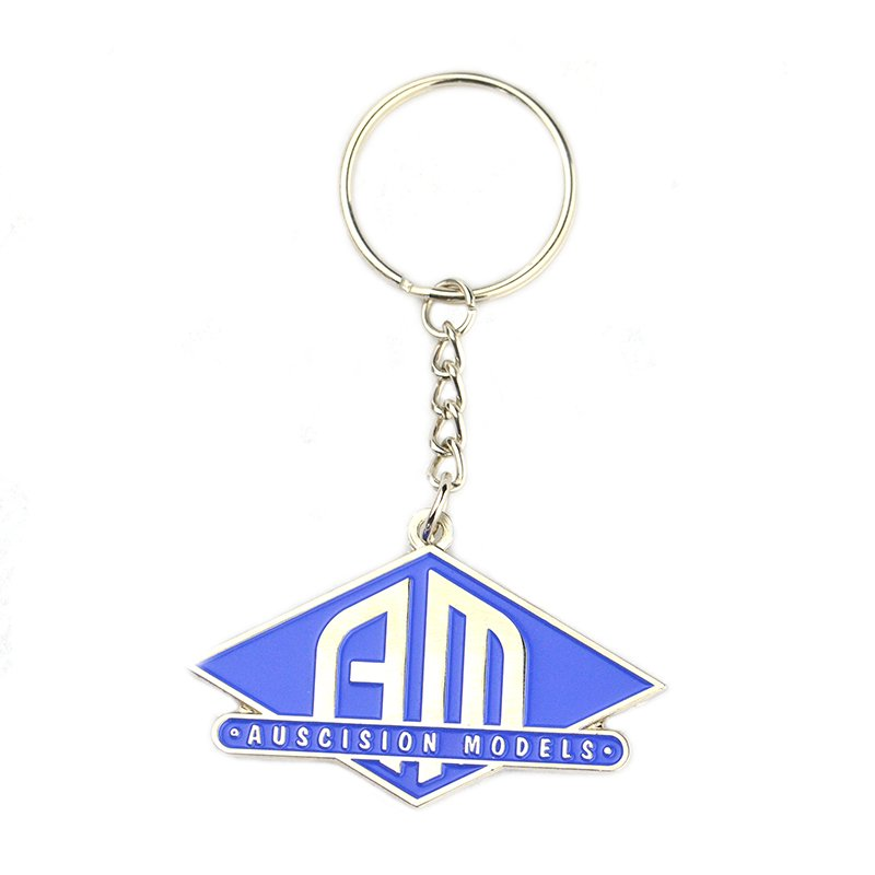 Oem Factory Enamel Keychain Custom Die Cast Metal Key Ring