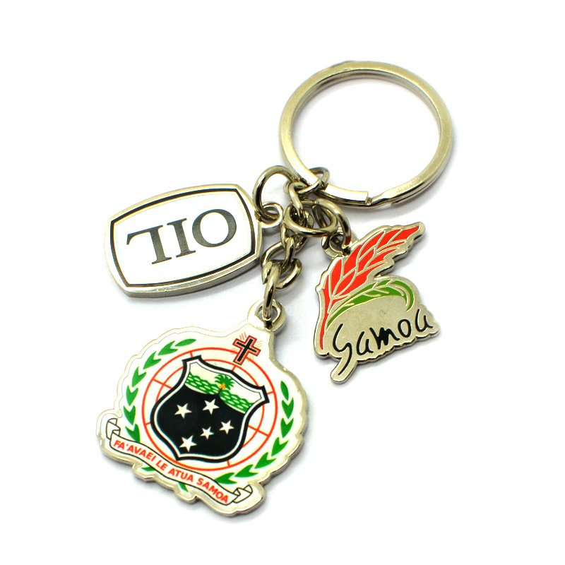Factory Sale Custom Printed Keychain Diy Metal Key Chain Ring