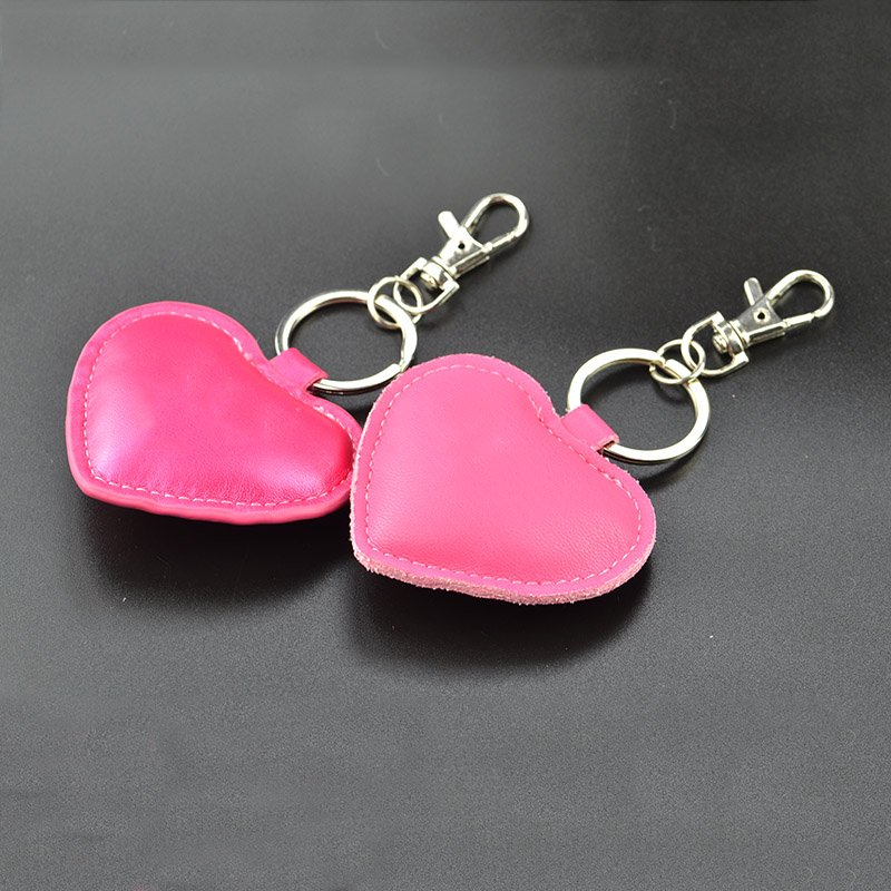 Bulk Lady Keychain Pu Leather Custom Heart Shape Key Chain