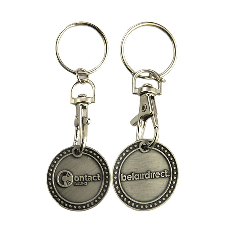Sale Two Sided Custom Keychain Metal Coin Holder Key Chains