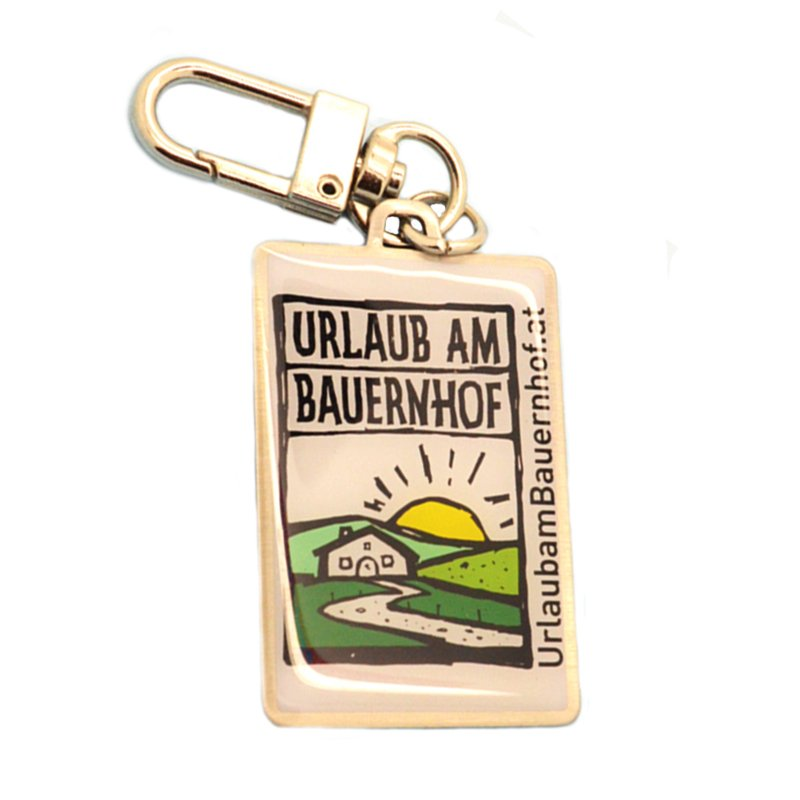 Oem Dubai Souvenir Keychain Custom Metal Printed Key Chains