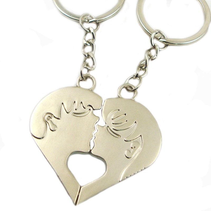 Magnetic Keychain Custom Made Metal Couple Key Chain Pair