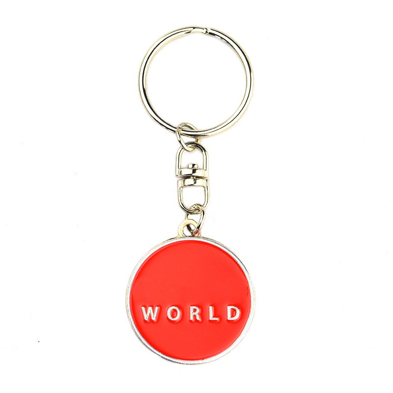 Wholesale Magnet Keychain Custom Metal Trolley Coin Key Chains