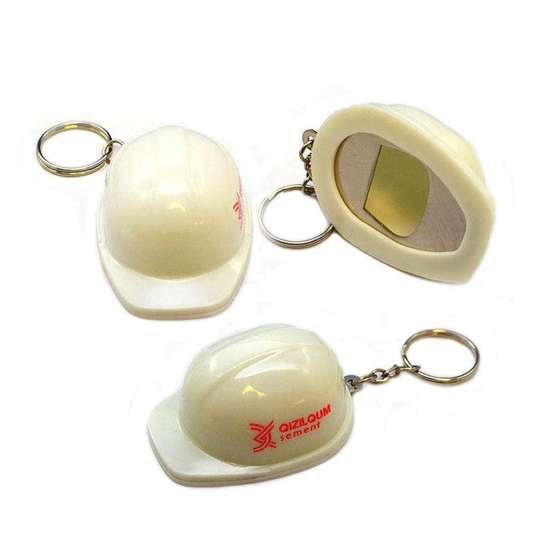 Wholesale Keychain Safety Helmet Custom Plastic Opener Key Chain