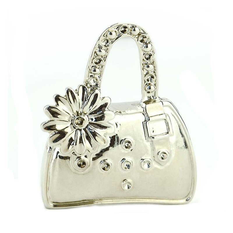 Customized Handbag Keychain Metal Plated Silver Key Chain