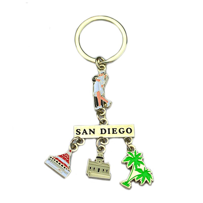 Keychain Metal Custom Logo Diy Your Souvenir Enamel Key Chain
