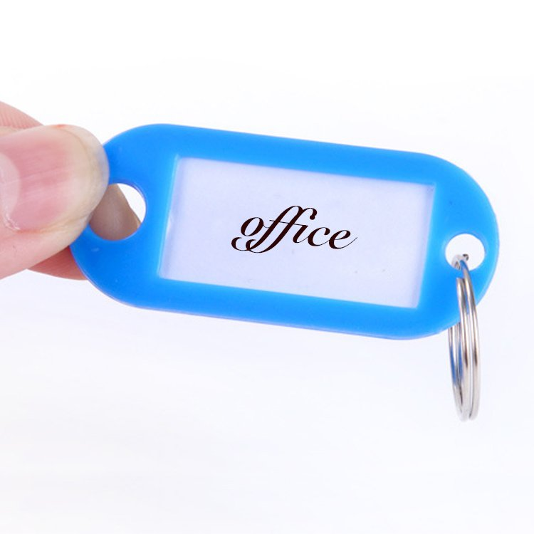 Name Card Keychain Custom Bulk Plastic Hotel Tag Key Chains