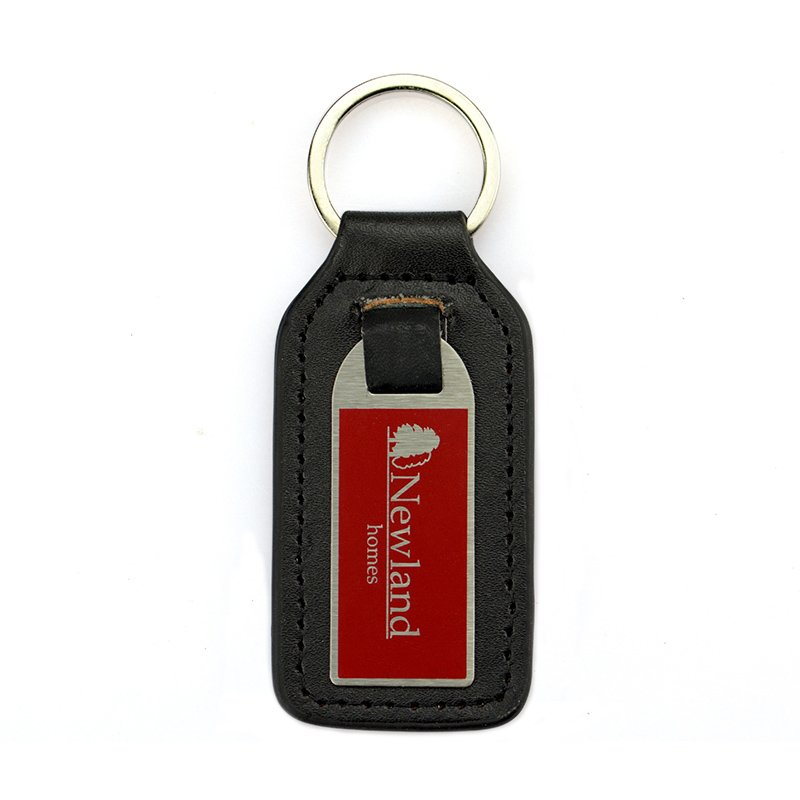 Custom Cheap Pu Key Chain Metal And Leather Keychain For Men